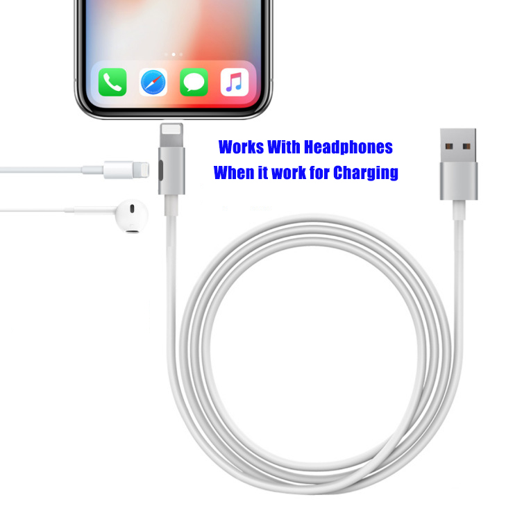Newest Product Works with Headphones MFi Lightning Cable For iPhone X/8P/8/7P/7
