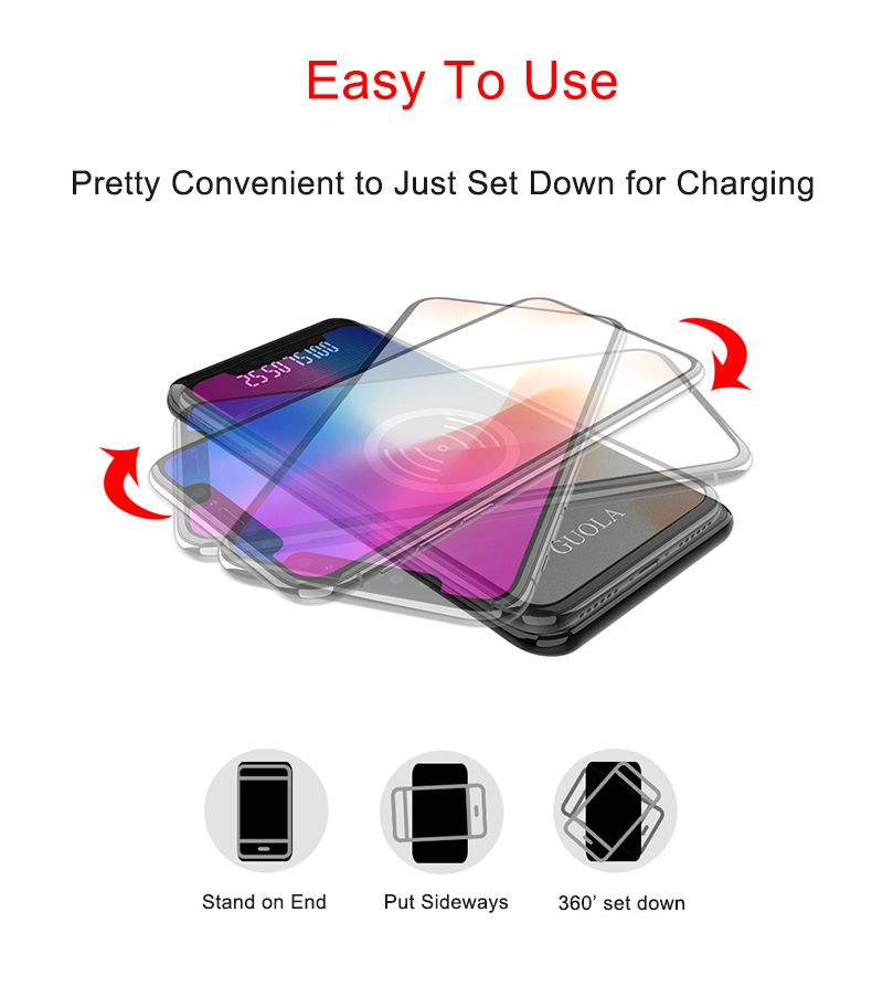 With Wireless Charging PowerBank 8000mAh 5V/9V Fast Charger for iPhone and Samsung
