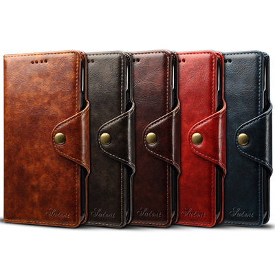 Flip Luxury Leather Mobile Cell Phone Cover Case For iPhone