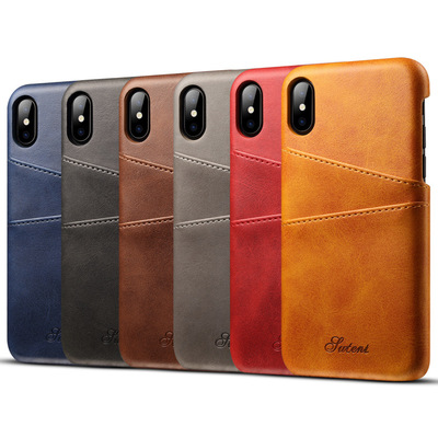 Luxury Flip Cowhide Real Genuine Leather Mobile Cell Phone Cover Case For iPhone