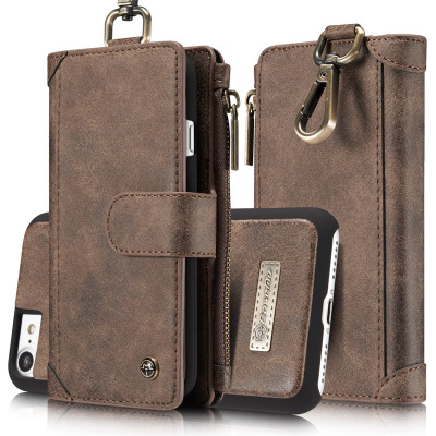 Luxury Genuine Real Leather Flip Cover Wallet Case for iPhoneX/8P/87P/7/6P/6 and Samsung Note8/S8P/S8