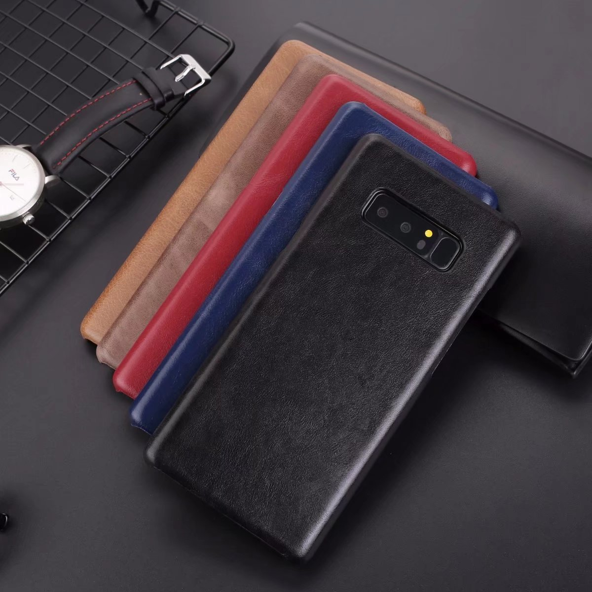 Best Products Cell Accessory Luxury Real Leather Phone Cover For Samsung Note8/S8P/S8