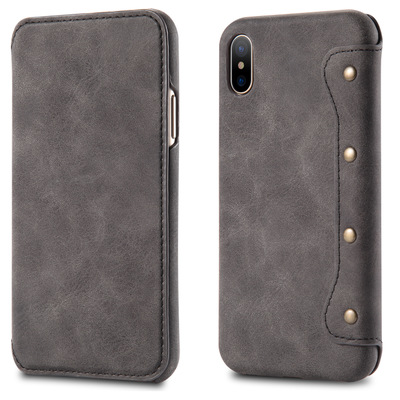 New Genuine Real Leather Wallet Card Holder Flip Phone Case Cover For