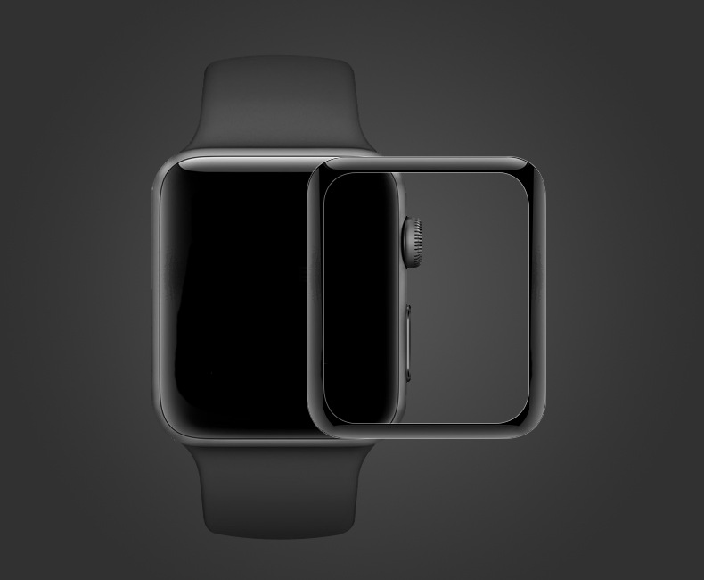 3D Curved Glass Screen Protector for iWatch